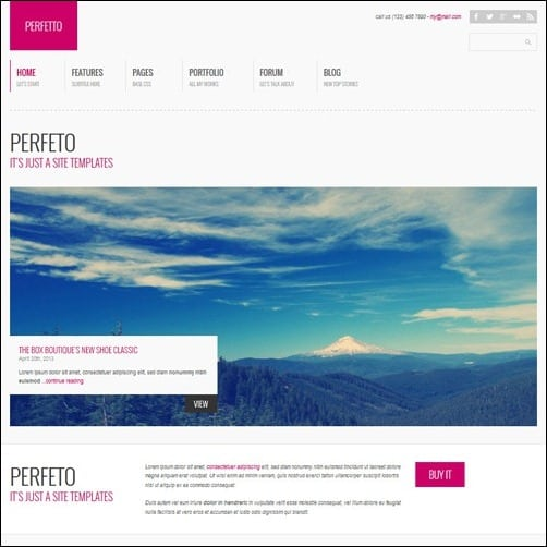 Perfetto WordPress Business Themes
