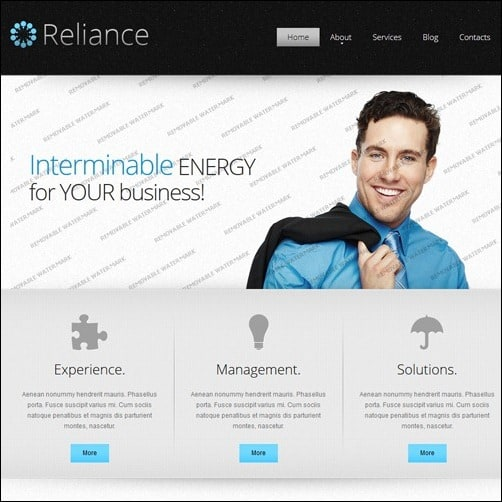 White Outsourcing Company business website template