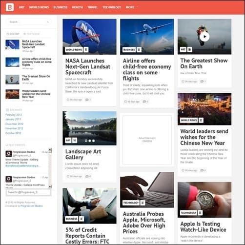 062 WordPress masonry theme