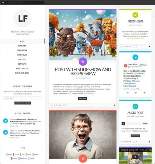 072 WordPress masonry theme