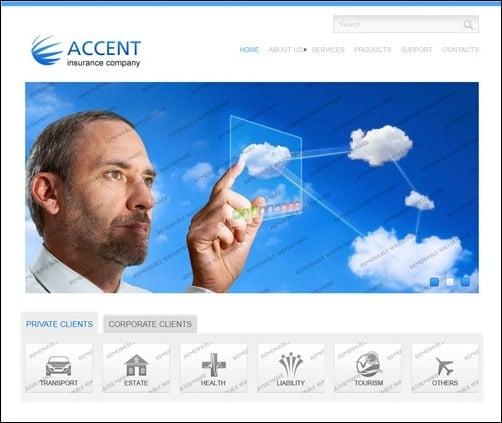 White & Blue Insurance business website template
