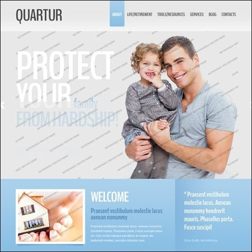 White & Grey Management business website template