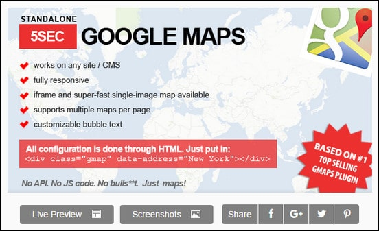 5sec Google Maps Standalone