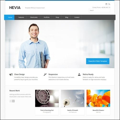 40 high quality business website templates tripwire magazine nevia business website template friedricerecipe Image collections