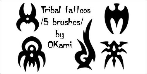 Tribal-tattoo-set1-by-OKami