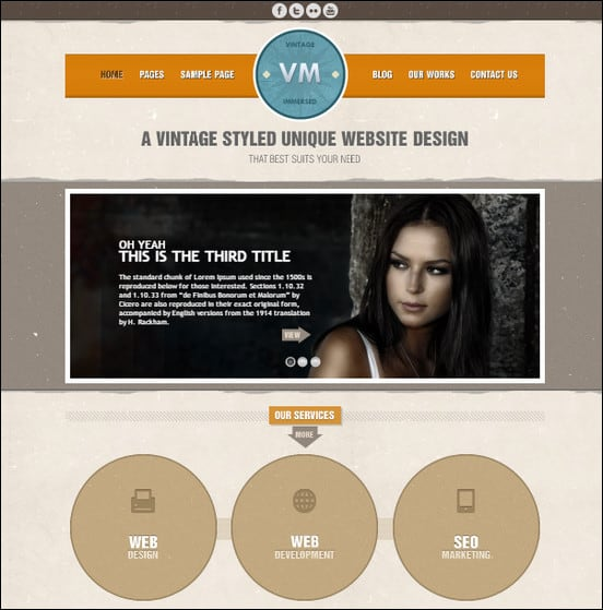 Vintage WordPress theme – Unique in design, rich in features and easy to use as you see it