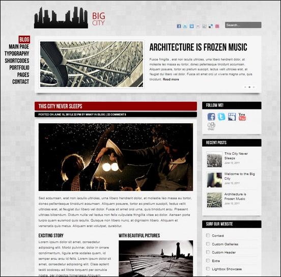 Big City - Blog WordPress theme