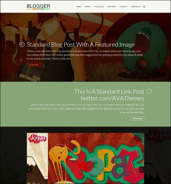 Blogger - Responsive Blog & Folio WordPress Them