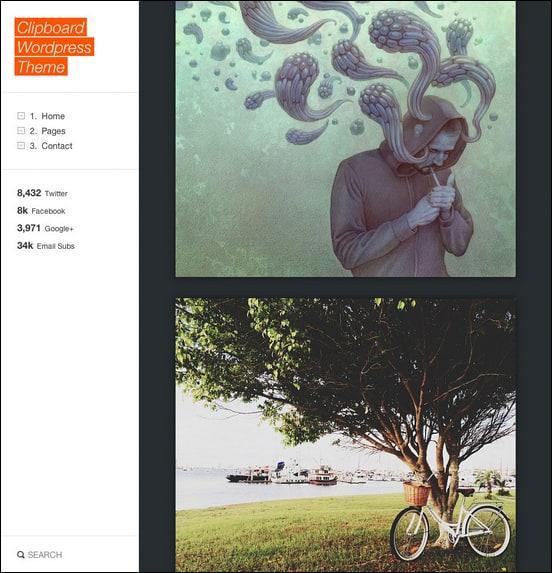 Clipboard - Tumblog Style WordPress Theme