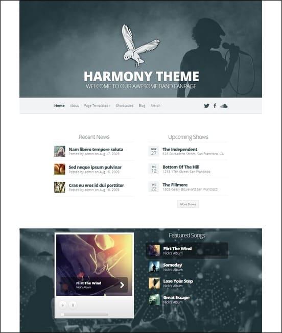 harmony-band-wordpress-theme