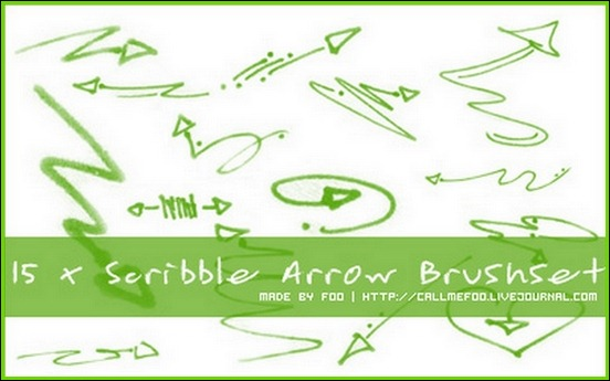 scribble-arrow-brush-set