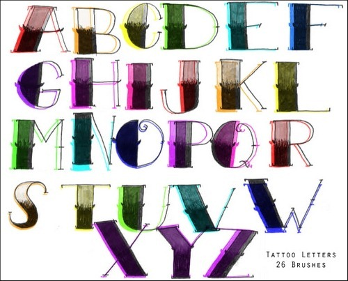 tattoo-letter-brushes