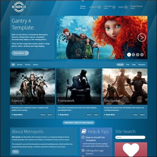 free wordpress theme metropolis