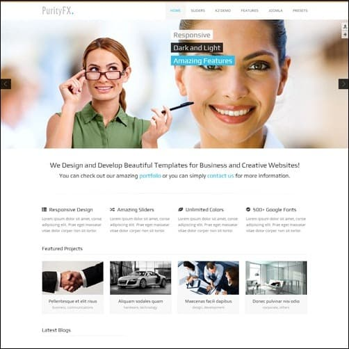 purityfx  Joomla 3.0 Template