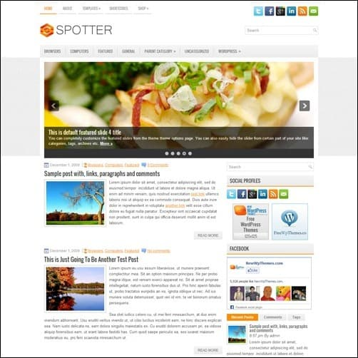 spotter free wordpress theme