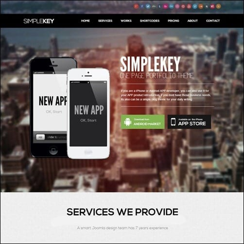 simple key Joomla 3.0 Template