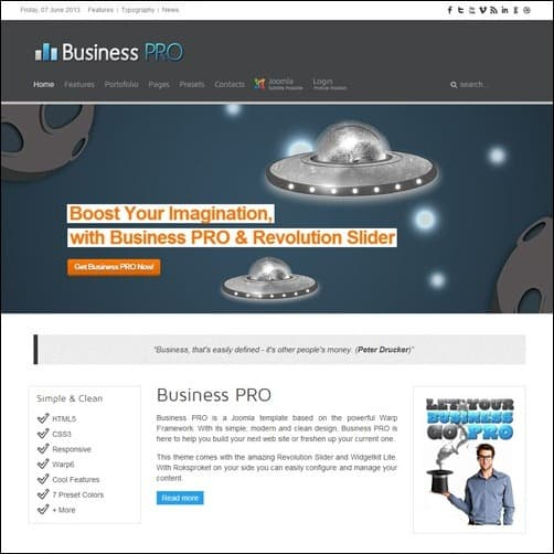 business pro Joomla 3.0 Template