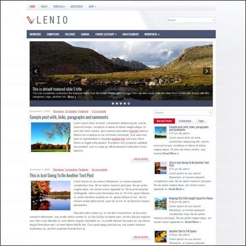 lenio free wordpress theme