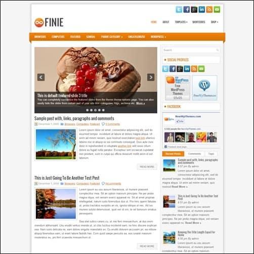 finie free wordpress theme