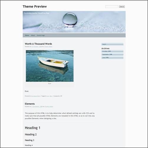 silver free wordpress theme