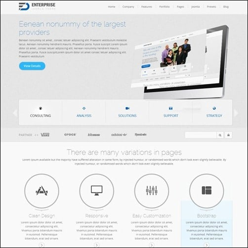 enterprise Joomla 3.0 Template