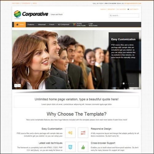 corporative Joomla 3.0 Template