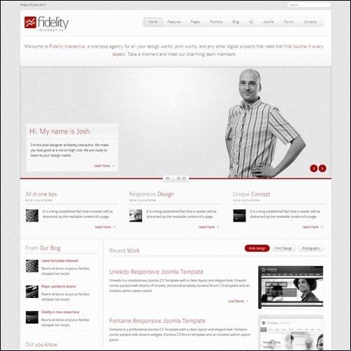 fidelity  Joomla 3.0 Template