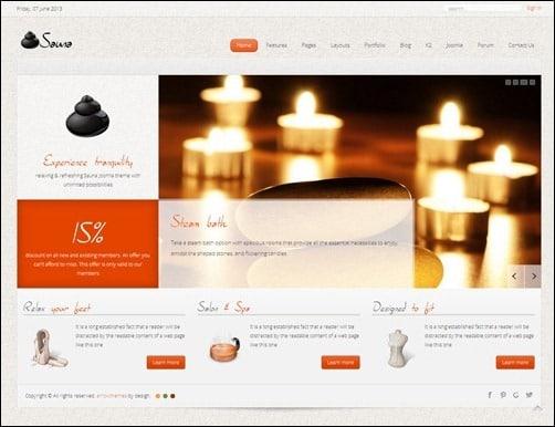 sauna Joomla 3.0 Template