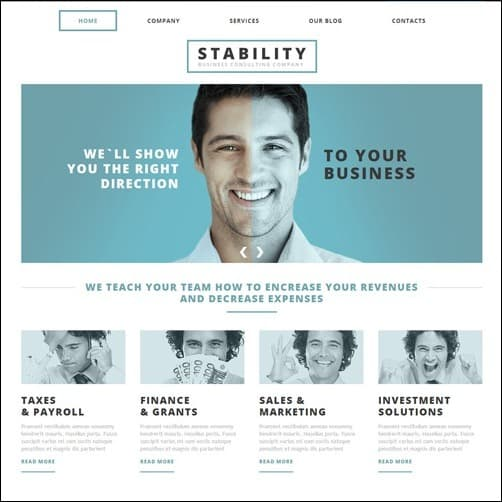 white consulting  Joomla 3.0 Template