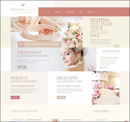 Wedding Guide Responsive Joomla 3.0 Templates