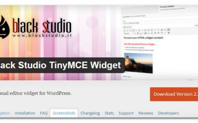 How To Add A WYSIWYG Editor In The WordPress Text Widget – Black Studio TinyMCE Widget