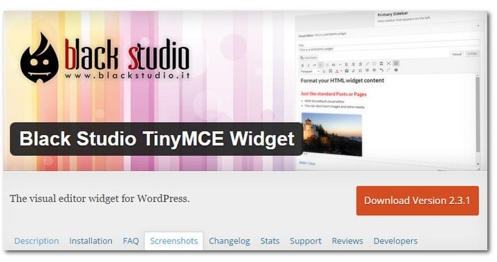 How To Add A WYSIWYG Editor In The WordPress Text Widget – Black