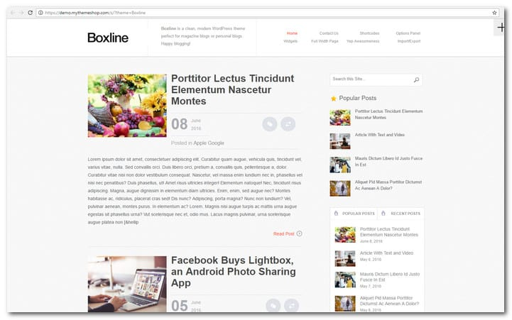 BoxLine - News Template