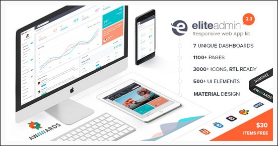 Elite Admin - The Ultimate Dashboard Web App Kit