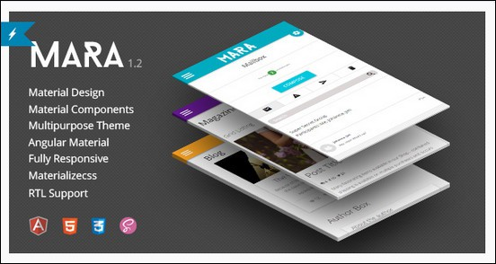 Mara - Material Design - Angular Admin Theme