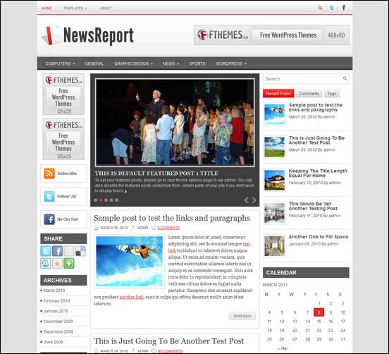 NewsReport wordpress news theme WordPress Haber ve Portal Temaları