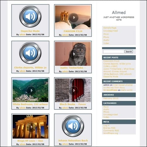 allmed free wordpress theme