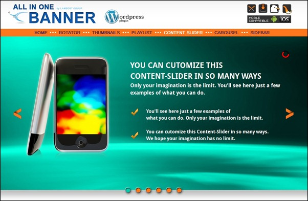 "This is ""a must see"" banner rotator and content slider plugin for WordPress."