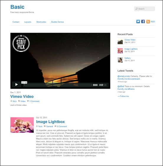 Basic Is A Free Responsive And Seriously Minimal WordPress Theme The Purpose Of To Function As Starter