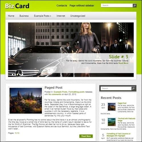 bizcard-free-theme