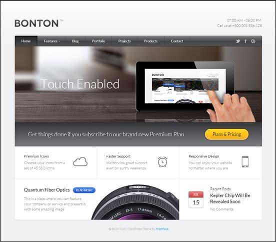 BONTON - Retina Ready Responsive WordPress Theme