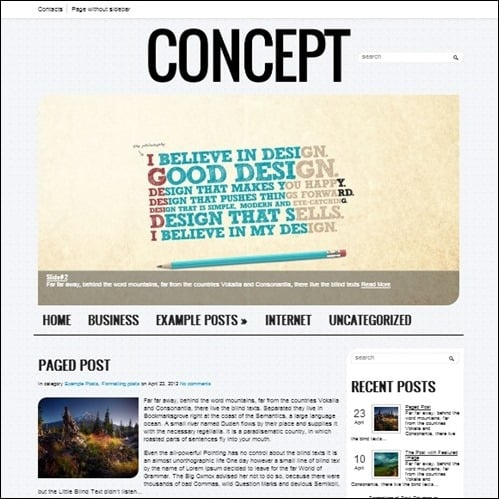 creative-concept free wordpress theme