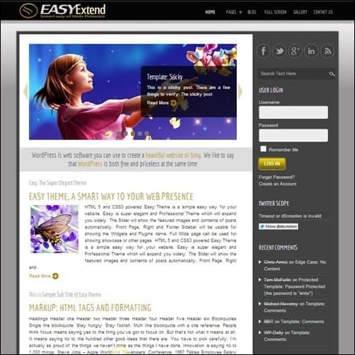 easy-theme free wordpress theme