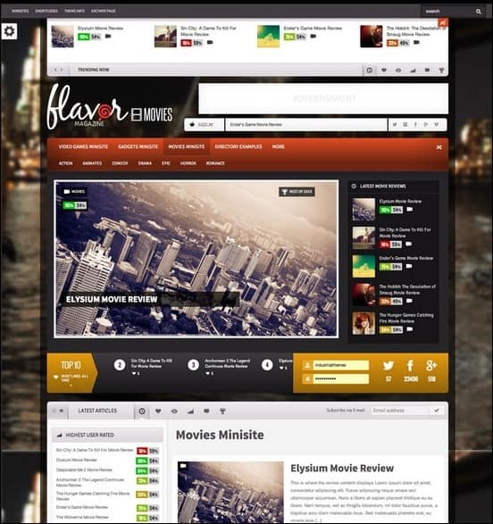 Flavor theme is a responsive news magazine theme built on Bootstrap that's both stylish and functional. Great website for including multimedia content