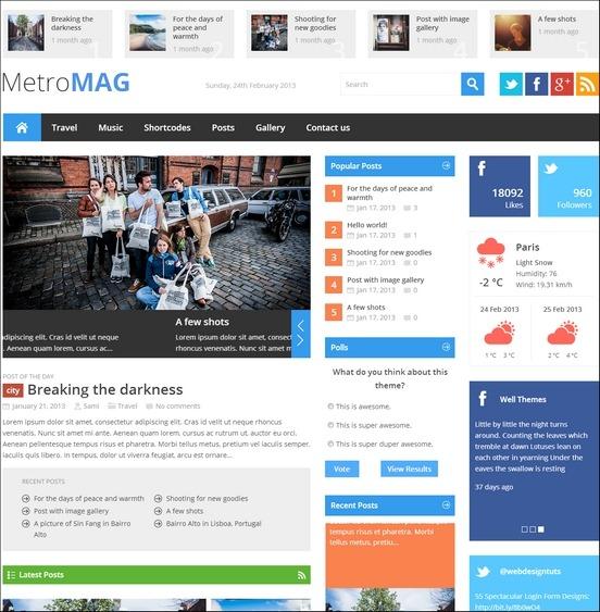 metro magazine wordpress news theme WordPress Haber ve Portal Temaları