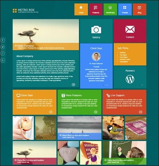 30 minimalistic and flat wordpress metro themes tripwire magazine