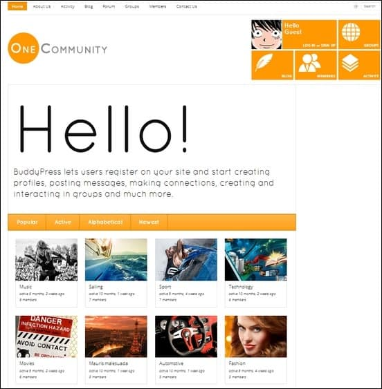 onecommunity is a unique fully responsive wordpress theme that is integrated with buddypress plugin