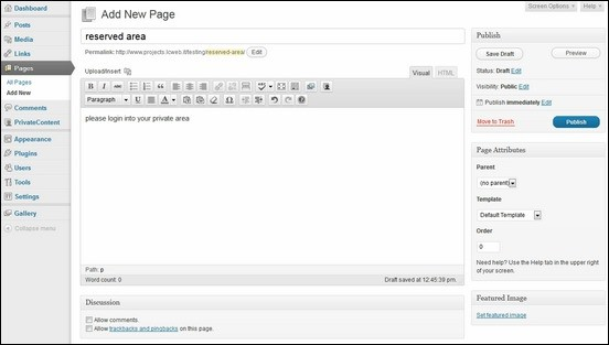 privatecontent-settings-page
