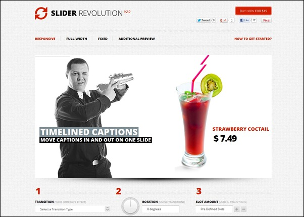 Slider Revolution is a powerful responsive WordPress plugin for adding sliders to your WordPress website