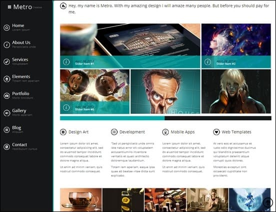 the wetro is a fully customizable metro style theme for wordpress